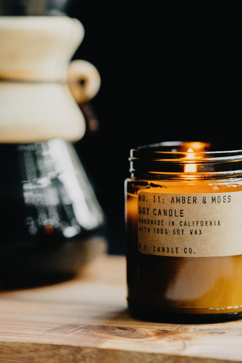 Soy Candle - Amber and Moss (7.2oz)