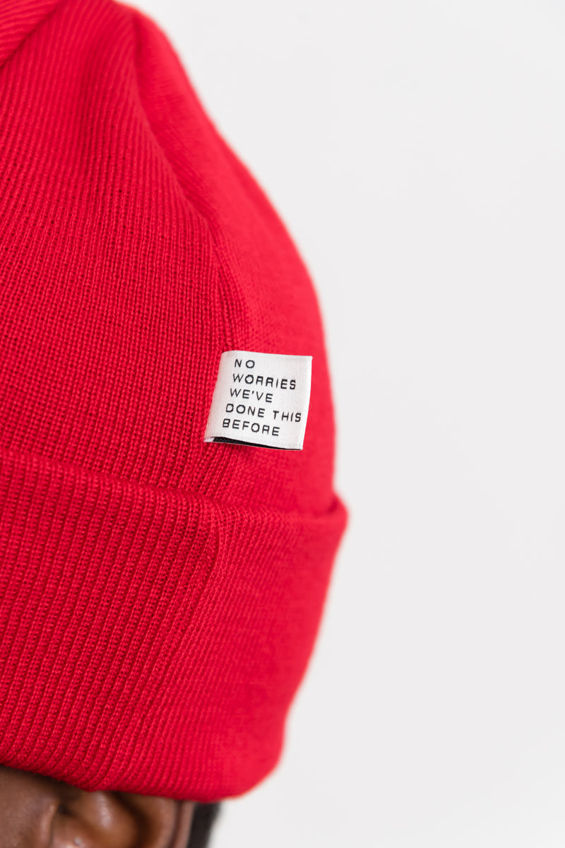 Permanent Beanie - Red (Available For In-Store Sales Only)