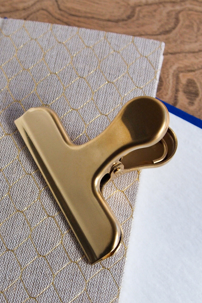 Clip Clip With Handle - Brass