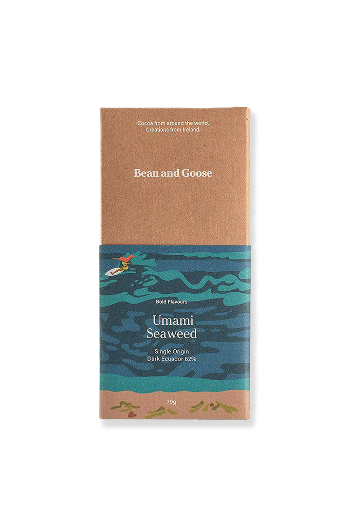 Dark Chocolate - Umami: Achill Island Sea Salt and Connemara Seaweed (70g)