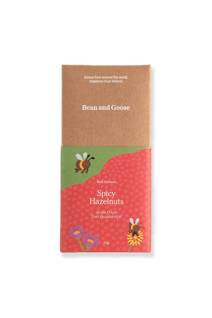 Dark Chocolate - Bold and Spicy Hazelnut (70g)