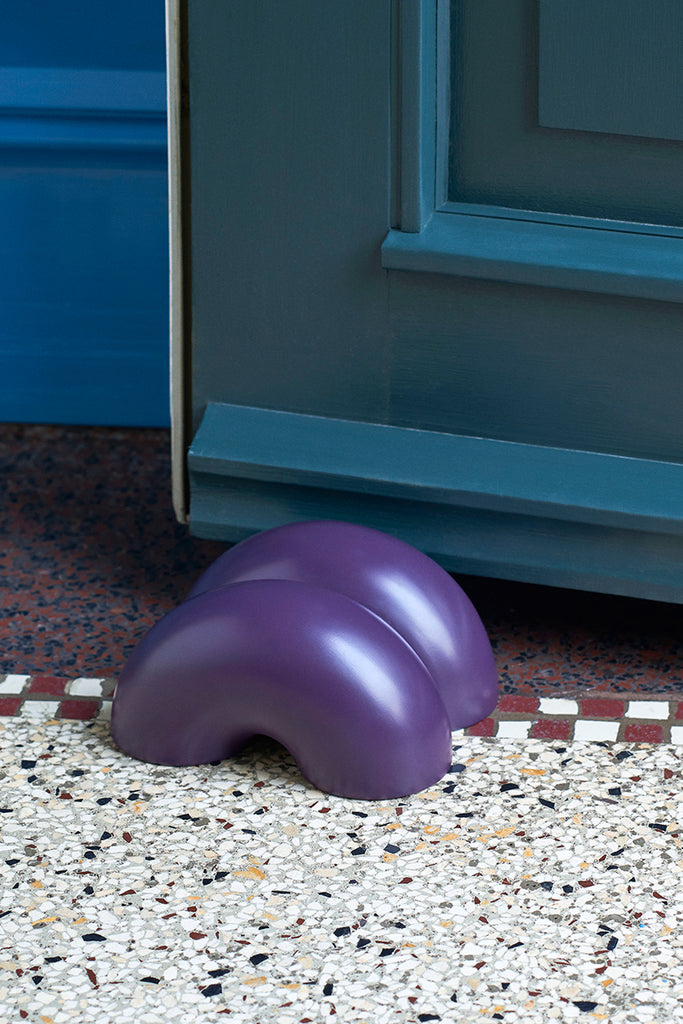 W&S Doorstop - Double Donut Purple