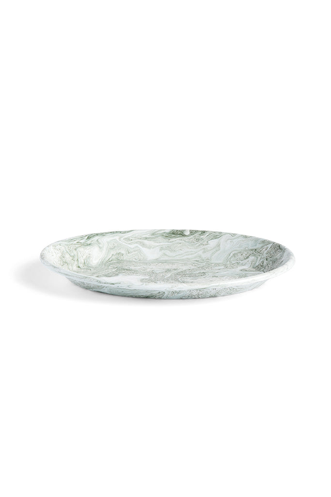 Soft Ice Oval Dish - Green