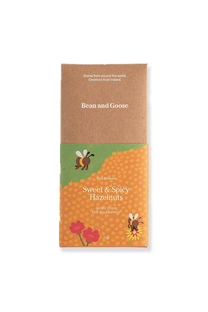 Milk Chocolate - Sweet and Spicy Hazelnuts (70g)