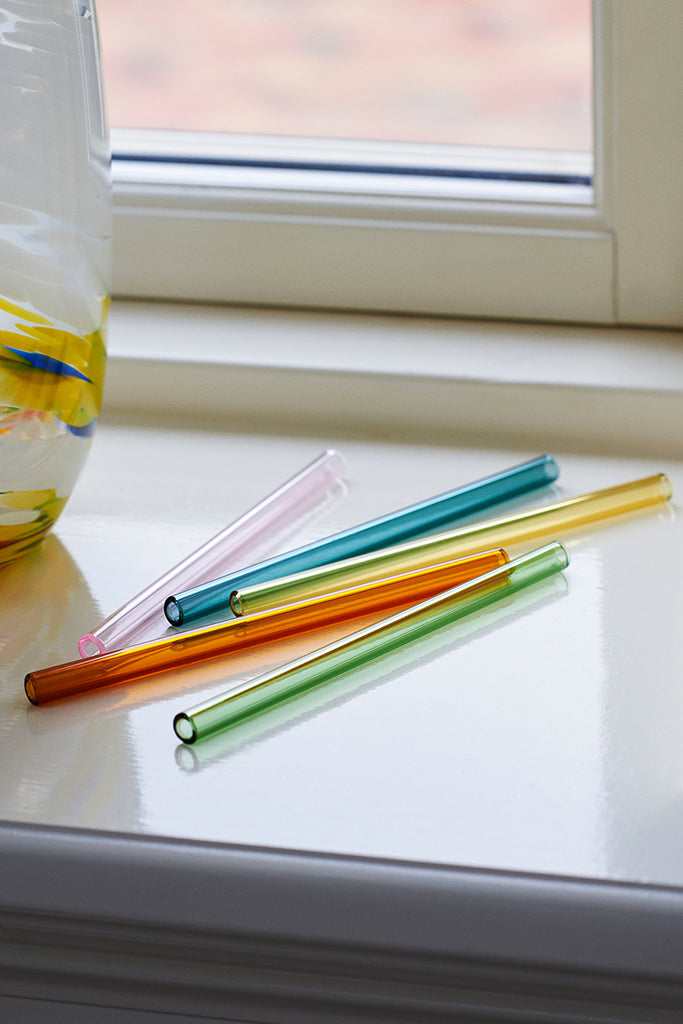 Sip Cocktail Straw 6 Pcs - Multi