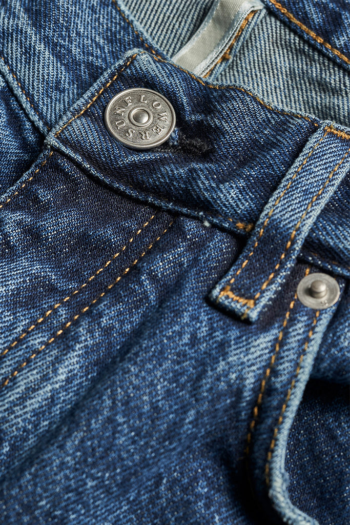 Straight Denim - Washed Blue