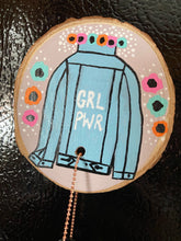 Load image into Gallery viewer, Girl PWR photo magnet (Pink & Orange)