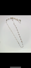 Load image into Gallery viewer, White bead silver chain