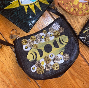 Phases of the moon floral bag