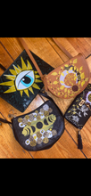 Load image into Gallery viewer, Phases of the moon floral bag