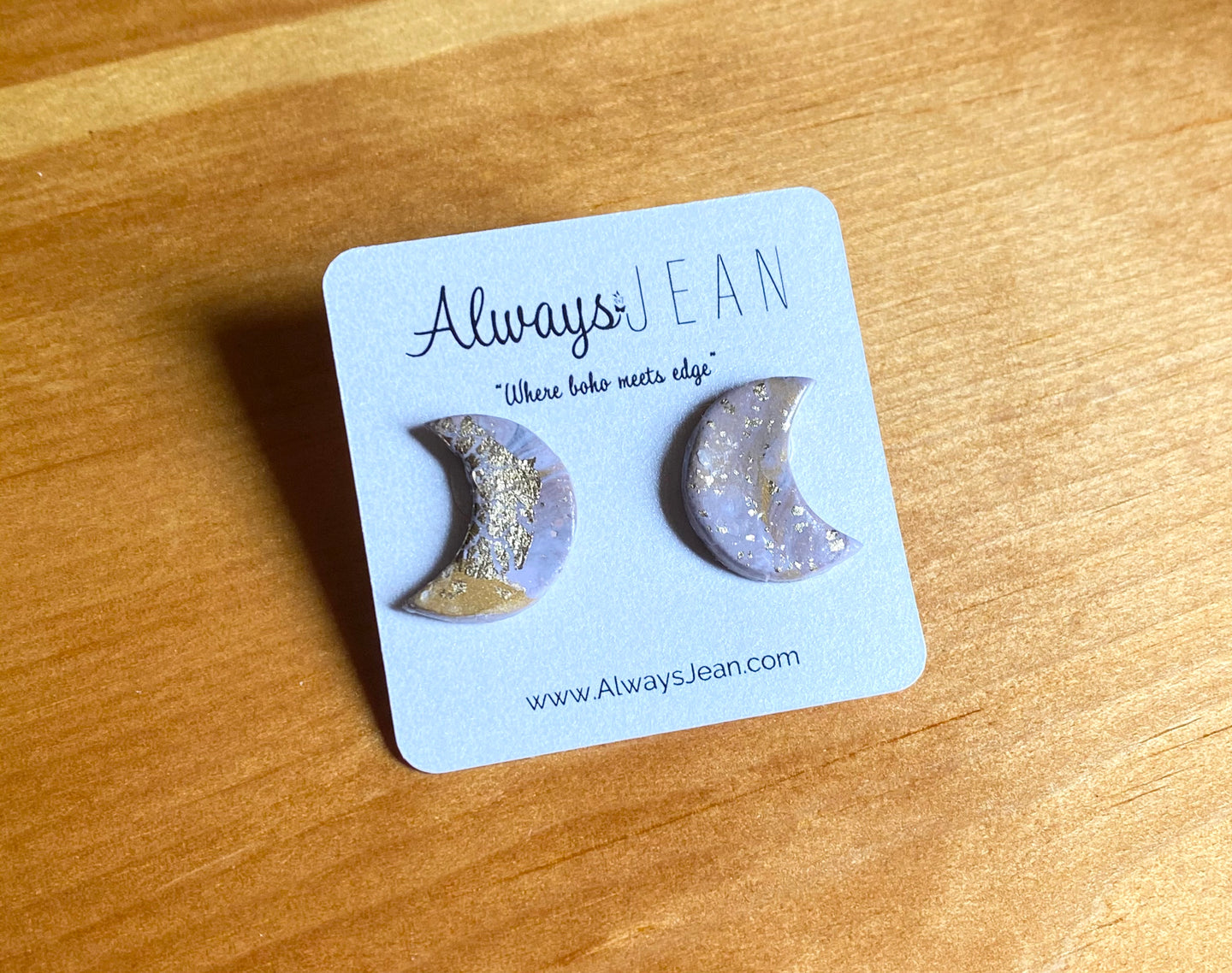 Lilac moon studs