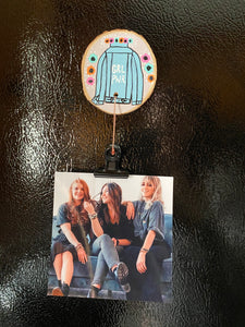 Girl PWR photo magnet (Pink & Orange)