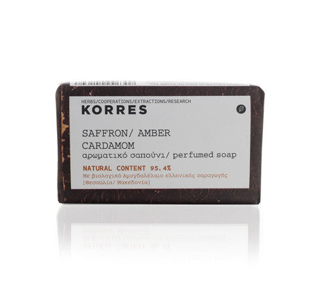 Korres Saffron, Amber and Cardamom Soap