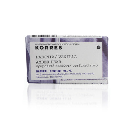 Korres Peonia, Vanilla, Amber And Pear Soap