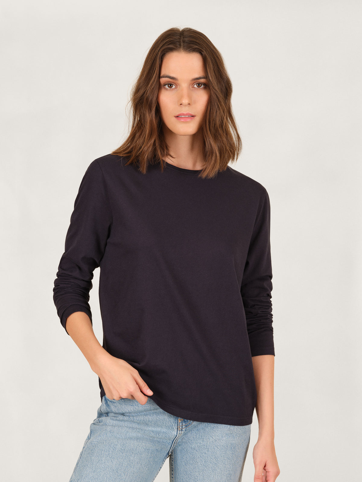 Boyfriend Long Sleeve Crew