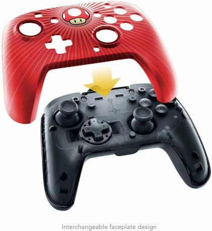 PDP Nintendo Switch Faceoff Super Mario Bros Red Mushroom Wired Pro Controller, 500-056-na-d6