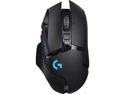 Black Logitech G Gaming Mouse Wireless G502 WL Black Lightspeed Wireless Multi-Button Game