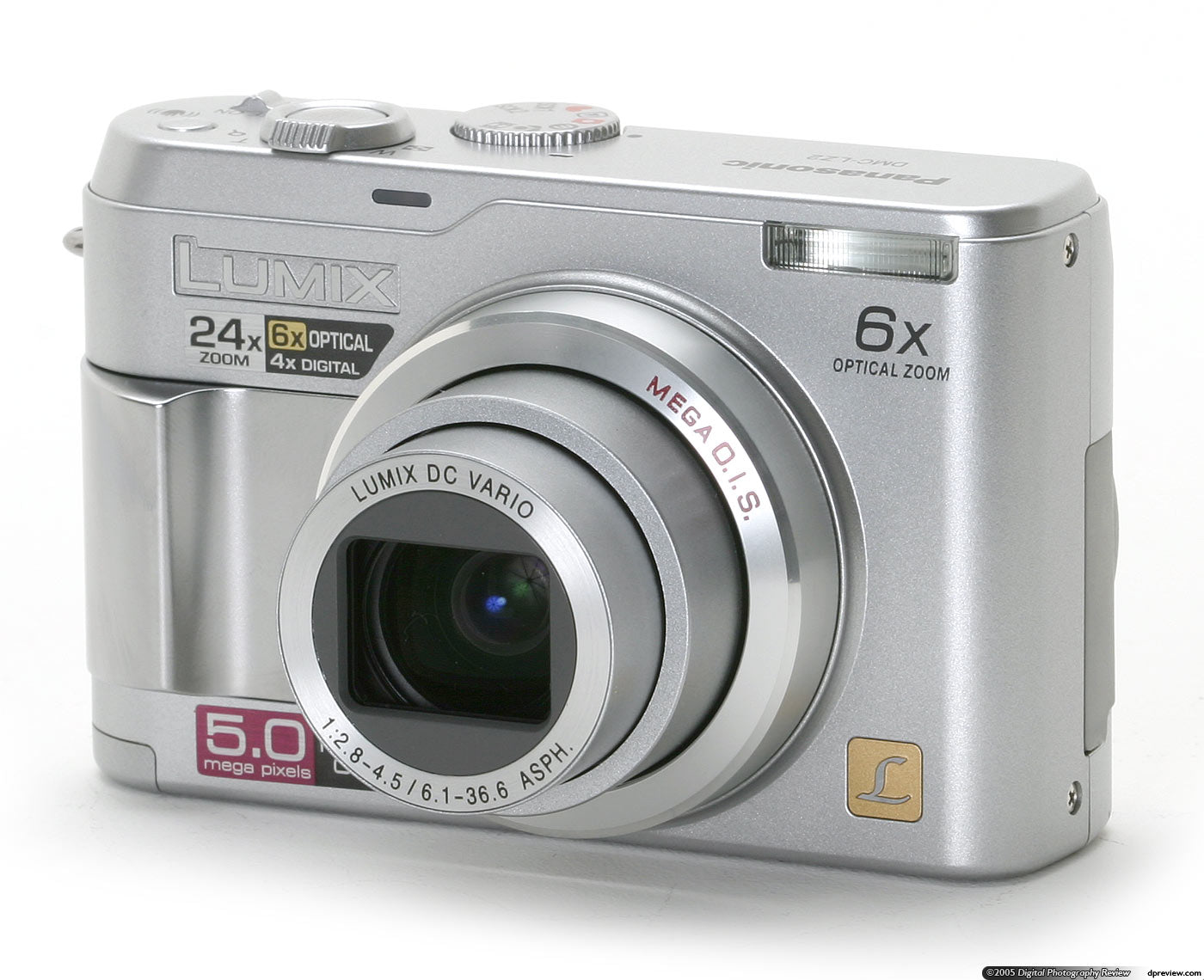 Panasonic Lumix Dmc-lz2 5.0MP Digital Camera - Silver