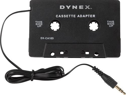 Dynex™ - Stereo Cassette Adapter for Most Vehicles - Black