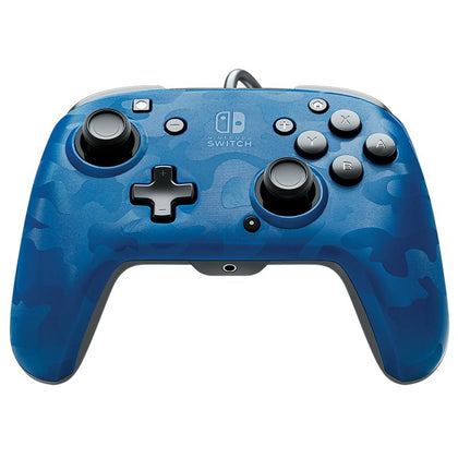 Nintendo Switch Faceoff Wired Pro Controller - Blue Camo