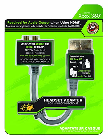 Mad Catz - Video / audio cable - TOSLINK, RCA x 2 to M Xbox 360 AV connector