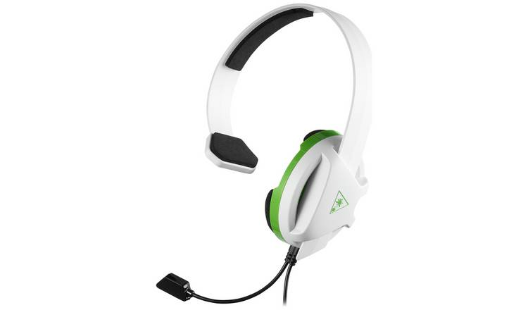 Turtle Beach RECON CHAT Over-Ear Headset - Omni-Directional - White