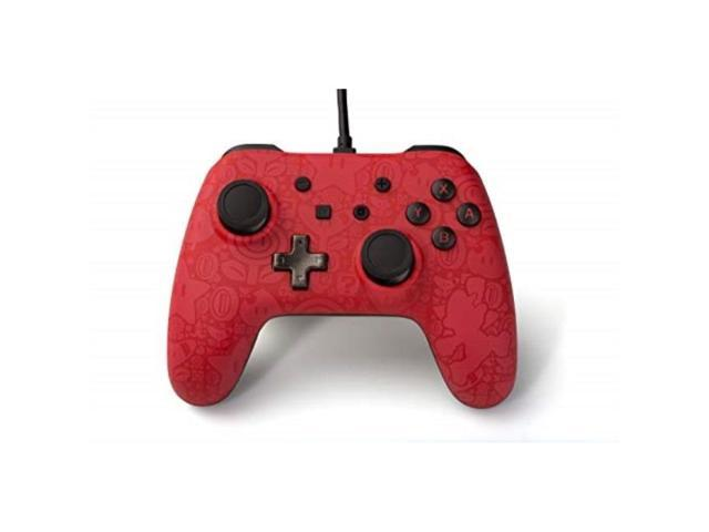 PowerA Super Mario Wired Nintendo Switch Pro Controller with Charging Cord, Red