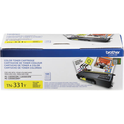 Brother TN 331Y Toner Cartridge, Yellow - 1-pack TN331Y