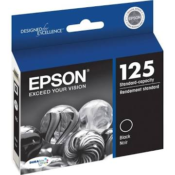 Epson 125 Ink Cartridge, Black - 1-pack T125120