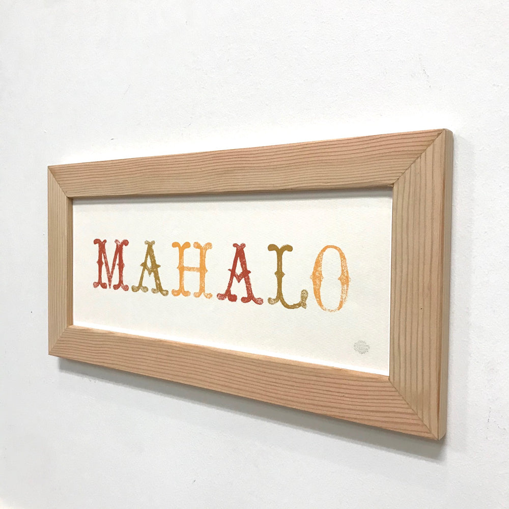 MAHALO -letters