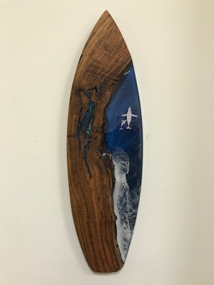"28"" Koa x Resin Board Art"