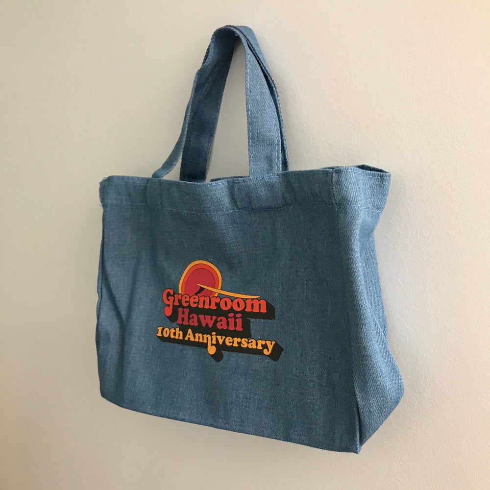 Greenroom Hawaii 19th Anniversary Denim Mini Tote