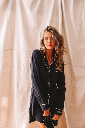 Amour Navy Boyfriend Shirt