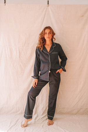 Amour Navy Long Sleeve & Pant Set