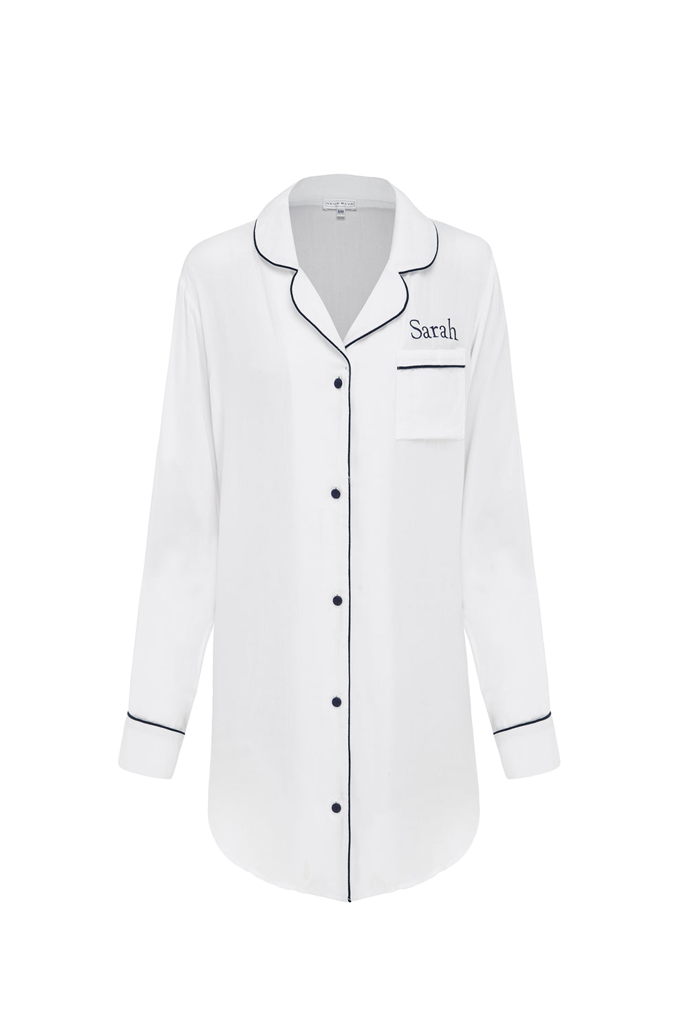 White Night Shirt Personalised Luxury Sleepwear for wedding