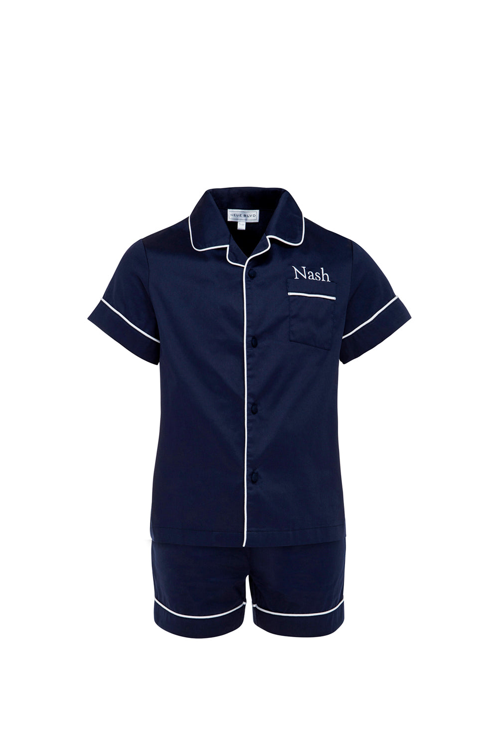 Amour Mini Navy Short Sleeve Set