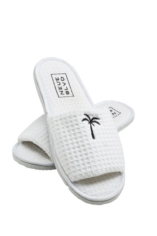 Amour White Mini Slipper