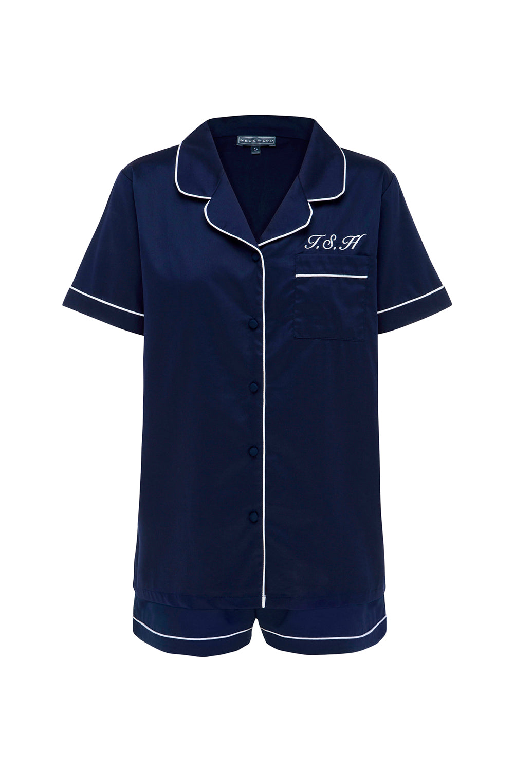 Amour Navy Short Sleeve Set
