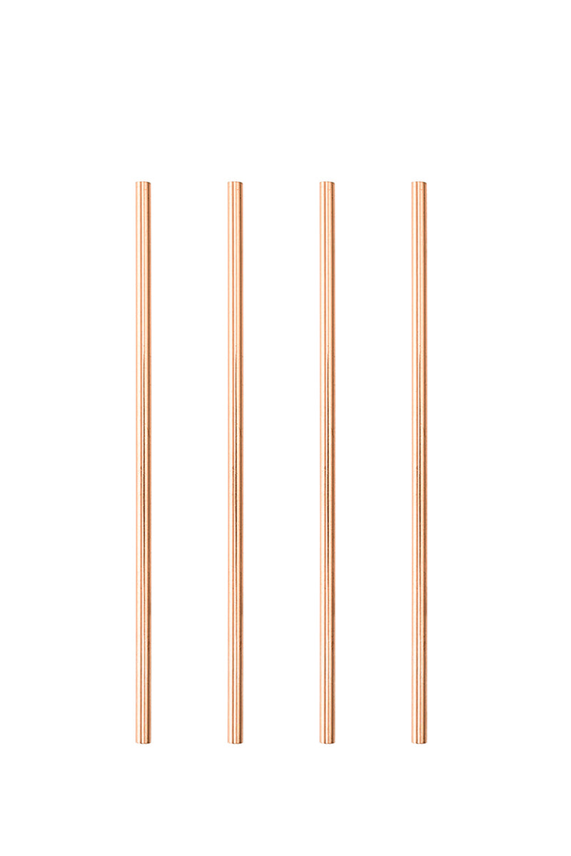 Cosmopolitan Rose Gold Straws