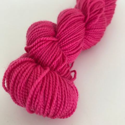 Hot Pink Sock Yarn approx 40g