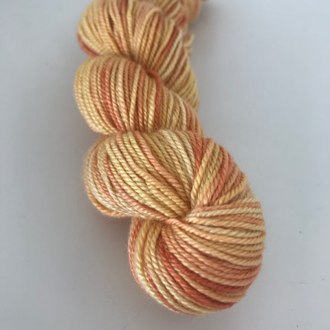 Yellow Sock Yarn Mini Skein approx 30g