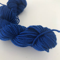 Dark Blue Sock Yarn Mini Skein approx 25g
