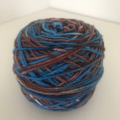 Turquoise/Brown Sock Yarn 55g