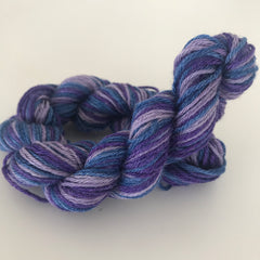 Purple Bamboo Sock Yarn Mini Skein approx 20g