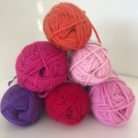 Pure Wool 8ply purple/pink