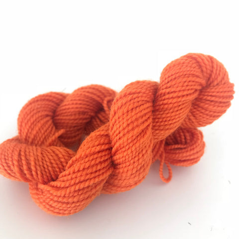 Orange Sock Yarn Mini Skein approx 15g