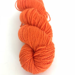 Orange Sock Yarn approx 50g