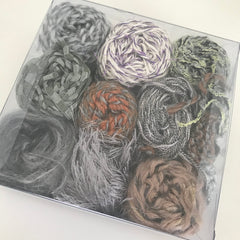 Textured Yarn Starter Pack grey/silver