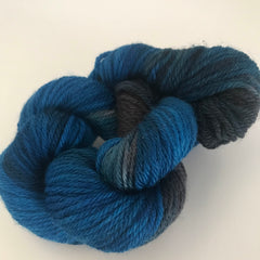 Turquoise/Grey Sock Yarn Mini Skein approx 20g