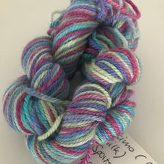 Tropical 5ply Sock Yarn Mini Skein approx 20g